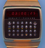 HP-01 calculator watch LED display that consumed batteries quickly and small keys that required a stylus to press
