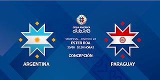 Argentina vs Paraguay en vivo | 30 junio del 2015 | Semi Final | Copa América 2015