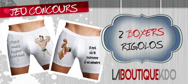 Jeu La boutique Kdo et Mademoiselle Bons Plans: 2 boxers rigolos à gagner