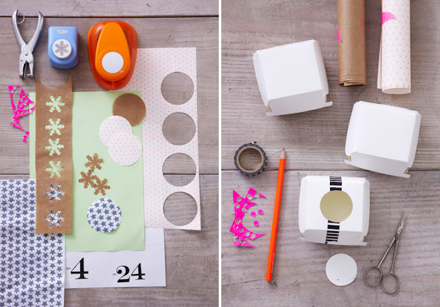 boxes calendar masking tape
