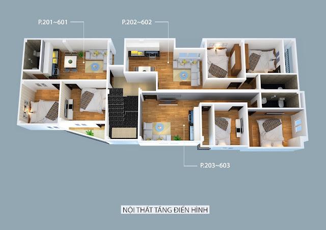 Thiết kế căn hộ 41.5m2 và 42m2 - Chung cư Nhật Tảo 7