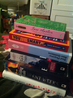 New book collection - Caitlin Moran, Brent Weeks and pseudo-psychology!