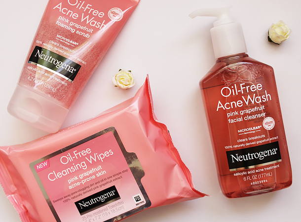 neutrogena oil free pink grapefruit giveaway selfie