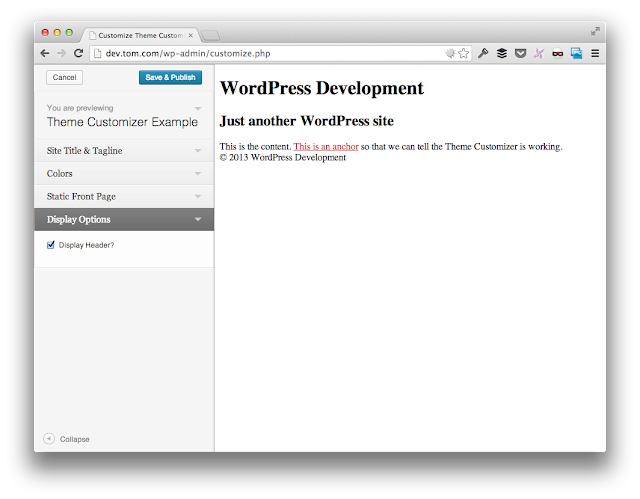 A Guide to the WordPress Theme Customizer: A Methodology for Sections, Settings, and Controls – Part 1