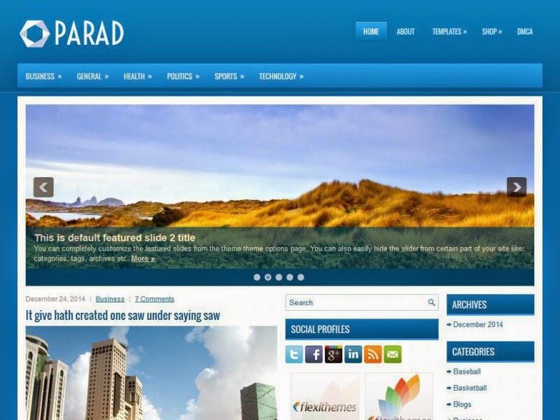 Parad - Free Wordpress Theme