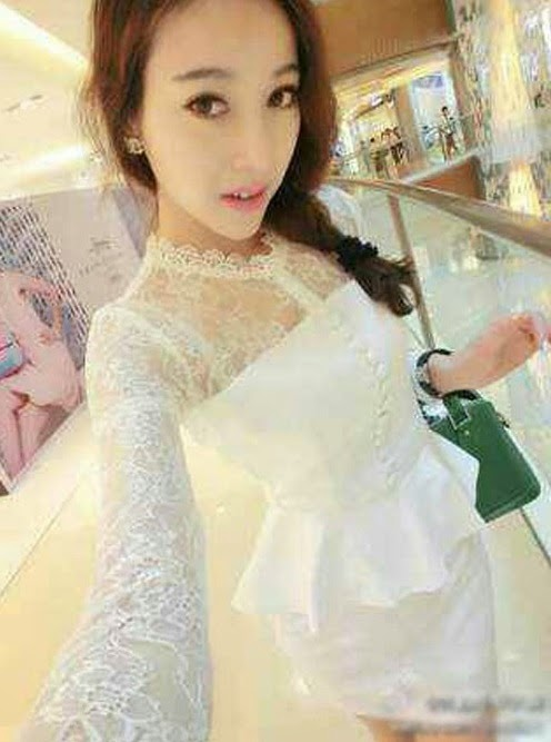 Baju: Dress Kebaya Pencil Putih
