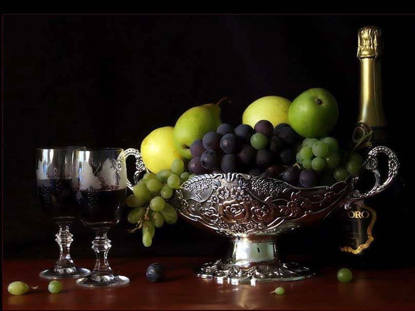 black-grapes-wine-apple-fruit-wallpapers