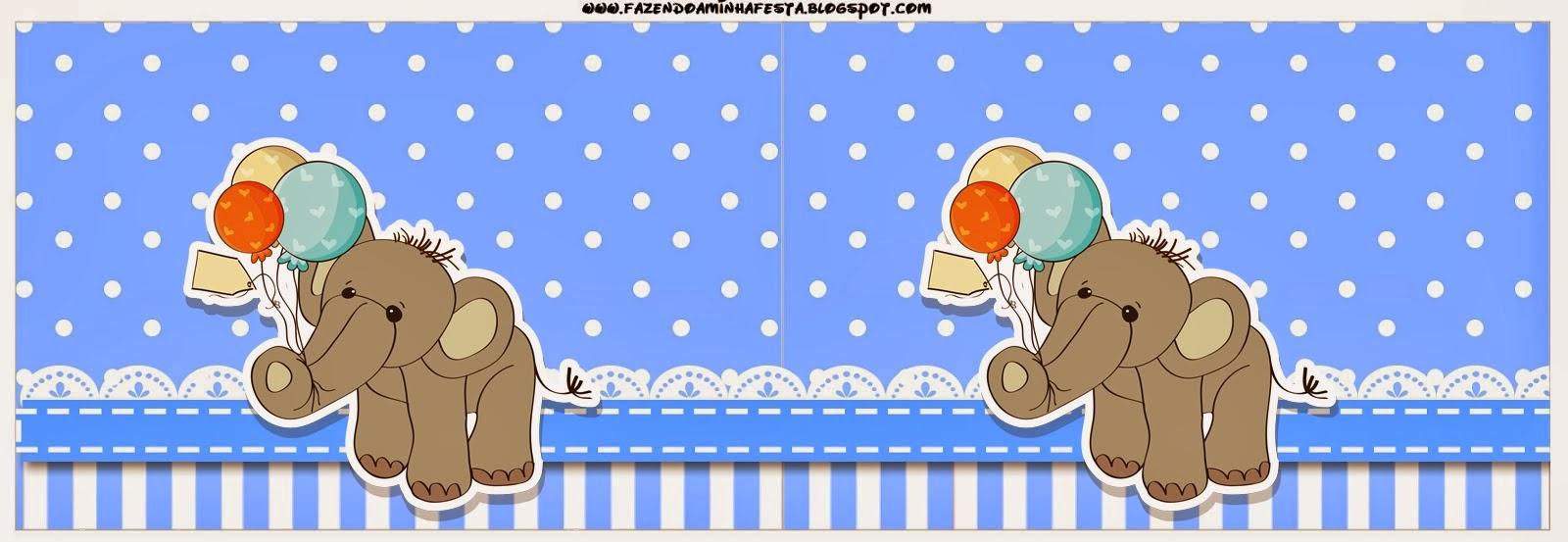 Elefante Para Baby Shower Etiquetas Para Candy Bar Para Imprimir