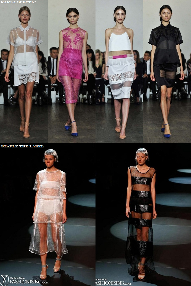 MBFWA, Trends, Sheer, Karla Spectic, Sheer Panelling, Staple the Label, SS 2013/14