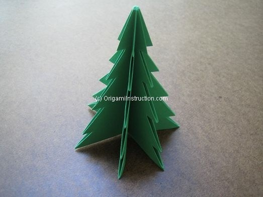christmas tree origami easy for kids