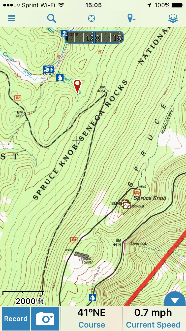 topo maps for the entire us and canada are free just remember to download them to the phone so you can access them without cell service in the boonies