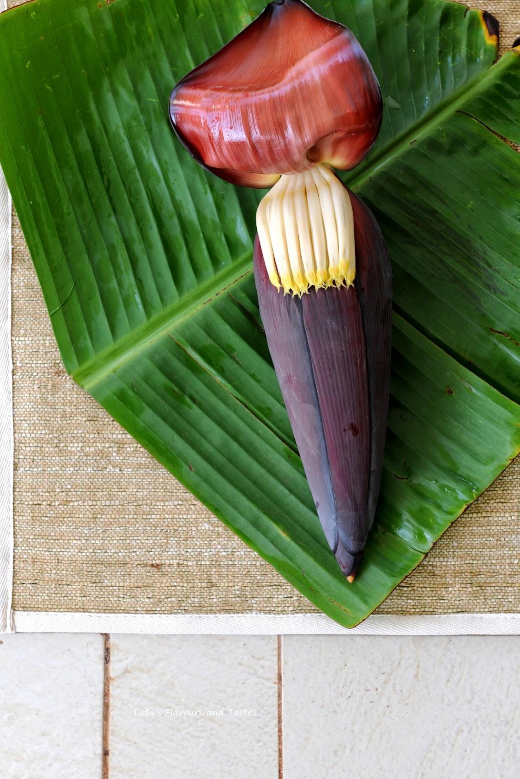how to cook banana blossom
