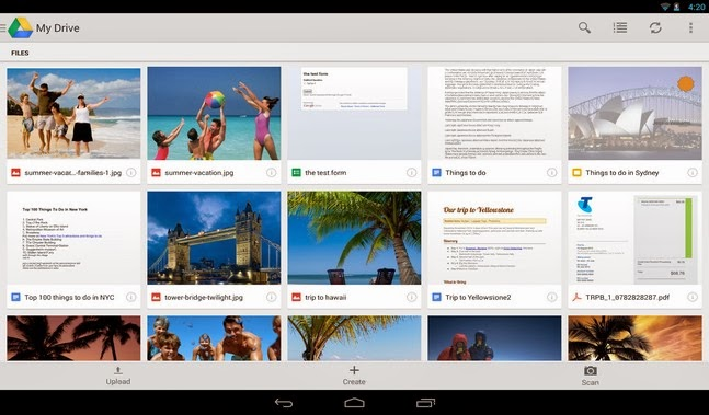Google Drive android apk - Screenshoot