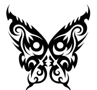 tatuagem, desenho, borboleta