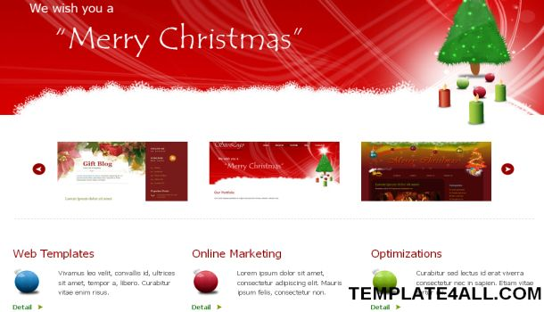 Christmas Red Jquery CSS Website Template