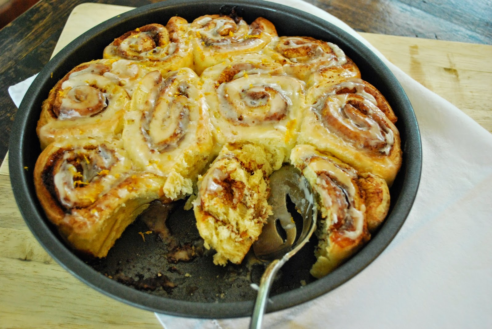 Mandarinquat Sesame Cinnamon Rolls: With its hint of sesame oil, dense consistency, and marmalade-like flavor, these are a unique, yet special take on your typical cinnamon roll recipe.