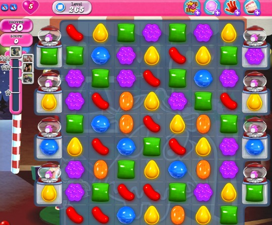 Candy Crush Level 265 Board