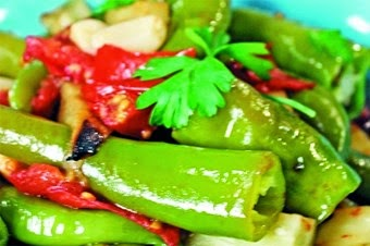 Buharda Patlıcanlı Biber Tarifi