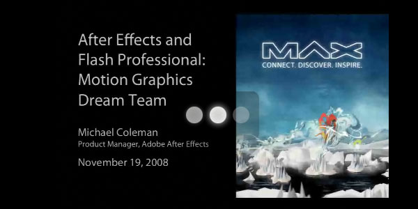 Dreams of Motion Design - After Effects Flash CS4