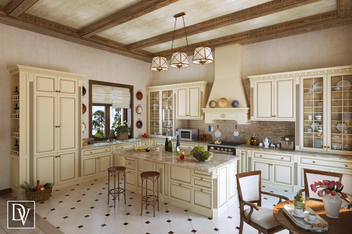Кухня столовая гранж интерьер вид №5