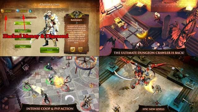 Dungeon Hunter 4  android hack