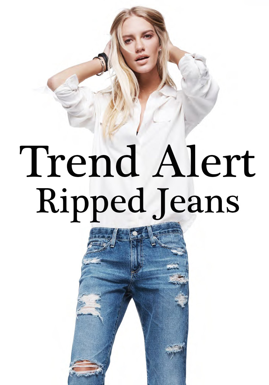Trend Alert Ripped jeans