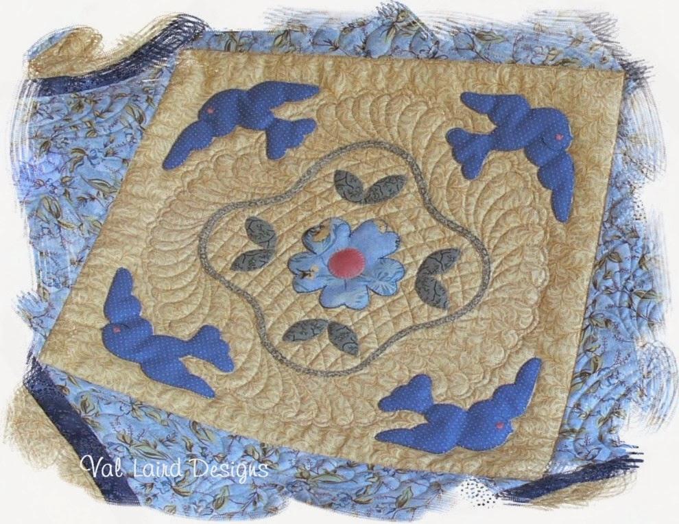 Val Laird Designs - Journey of a Stitcher: Bluebird of Happiness : furball farm quilting - Adamdwight.com