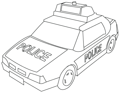 Drawing police car coloring Child Coloring