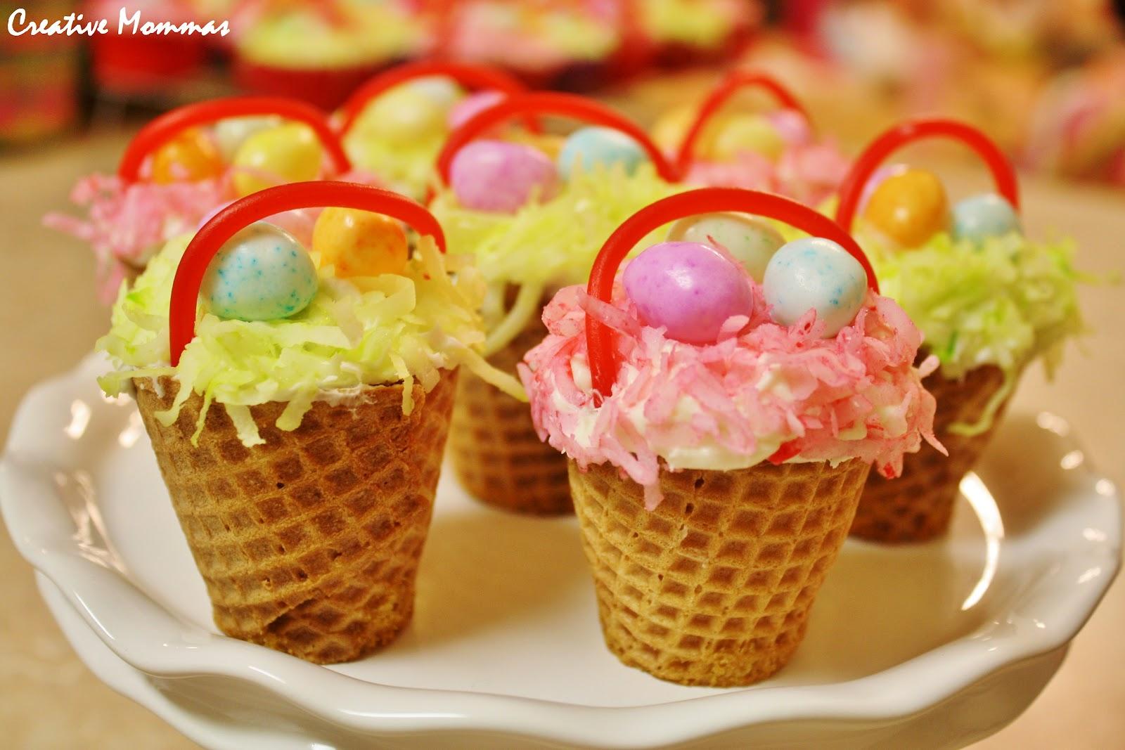 Creative mommas easter basket cupcakes easter basket cupcakes negle Choice Image