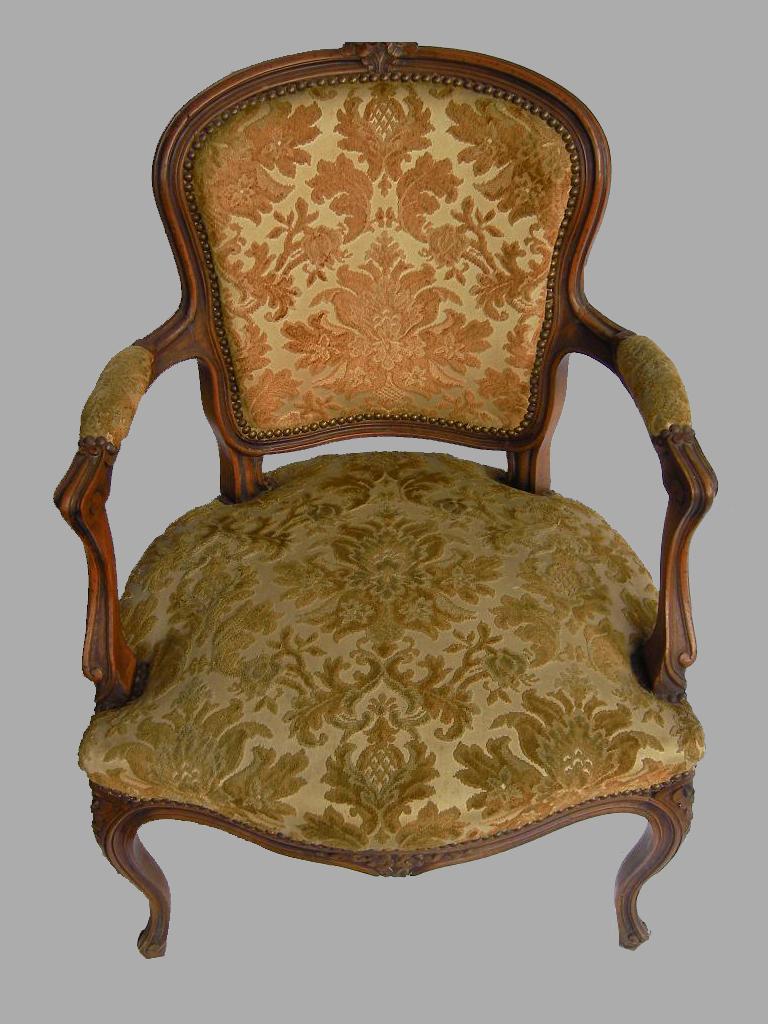 baustoffe antik restaurierter sessel. Black Bedroom Furniture Sets. Home Design Ideas