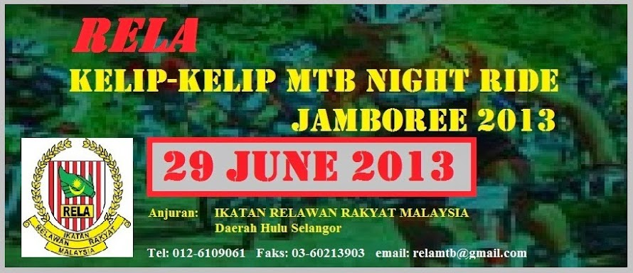 RELA KELIP-KELIP MTB NIGHT RIDE JAMBOREE 2013