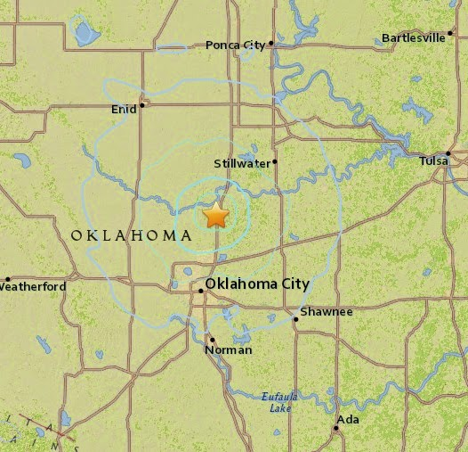 Magnitude 4.3 Earthquake of Guthrie, Oklahoma 2015-04-08