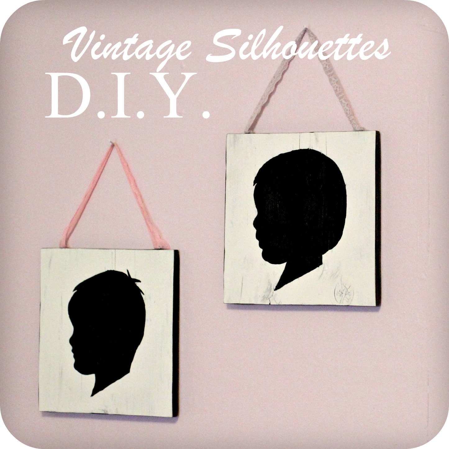 The freckled fox diy vintage style silhouette wall art diy vintage style silhouette wall art solutioingenieria Images