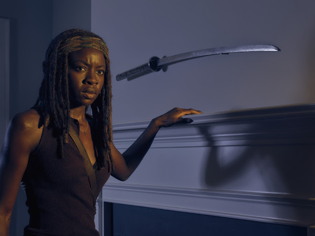 Danai Gurira como Michonne – The Walking Dead _ temporada 6, Gallery – Photo Credit: Frank Ockenfels 3/AMC