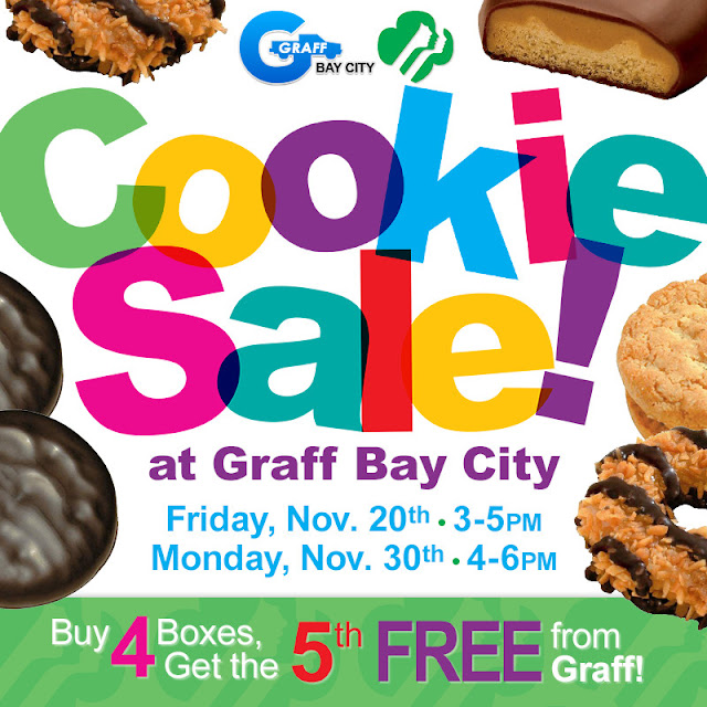 Girl Scout Cookie Sale at Graff Bay City