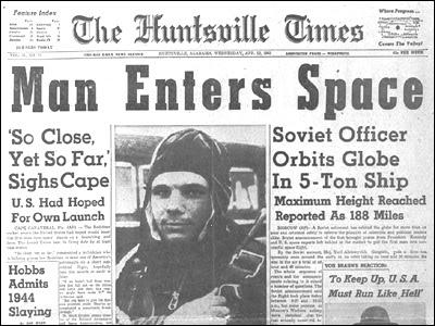 El hombre llega al espacio