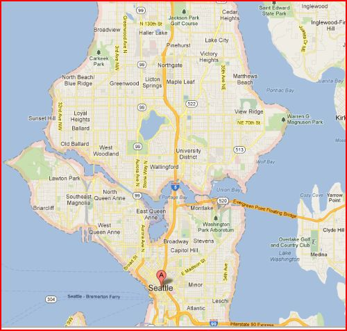 Jet Gypsy - Christina Gregoire: Basic Neighborhoods of Seattle - Mindmap