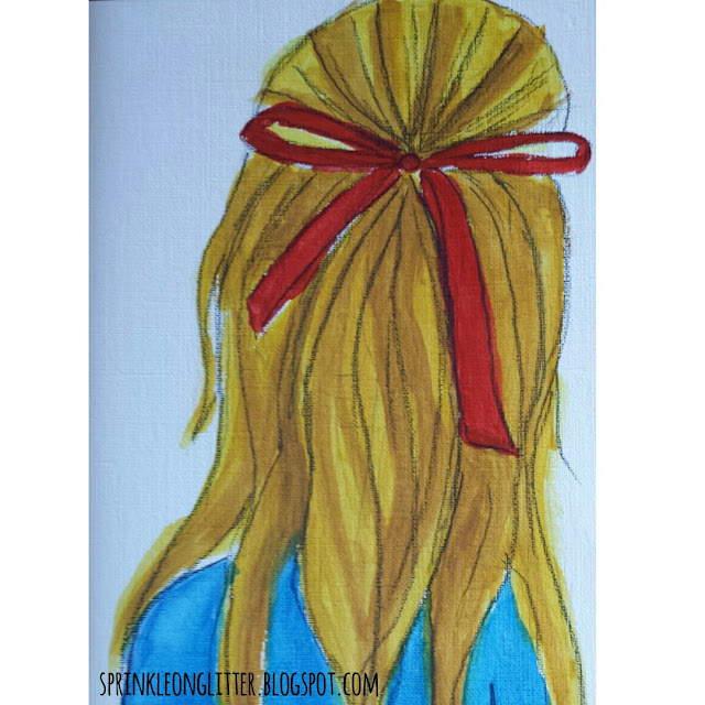 Sprinkle on Glitter Blog// Holiday Hair// Red Ribbon