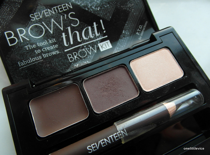 One Little Vice Beauty Blog: Seventeen Drugstore all in one brow kit