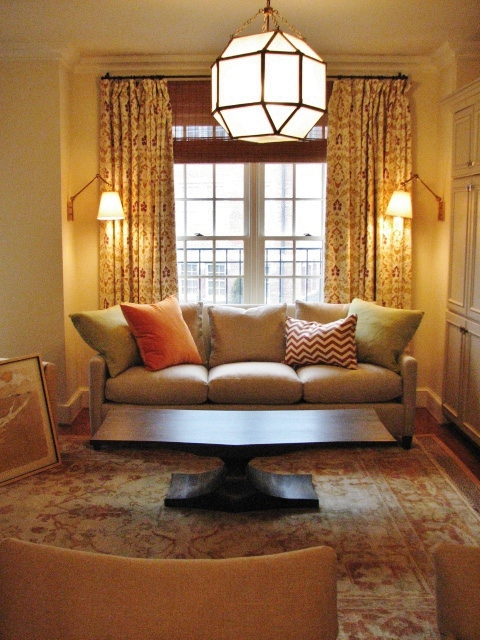 DC Row House Main Living Room Before  After - Row house living room design