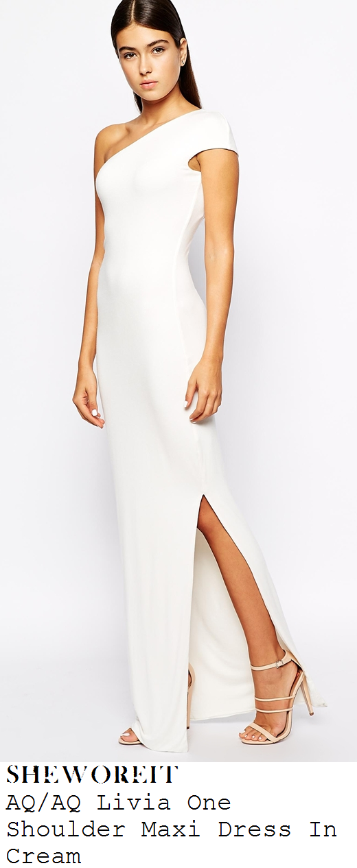 chloe-sims-cream-white-cap-sleeve-one-shoulder-asymmetric-drape-thigh-split-maxi-dress-ibiza