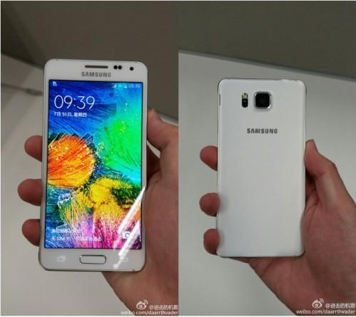 Cover posteriore e anteriore del nuovo Galaxy Alpha di Samsung