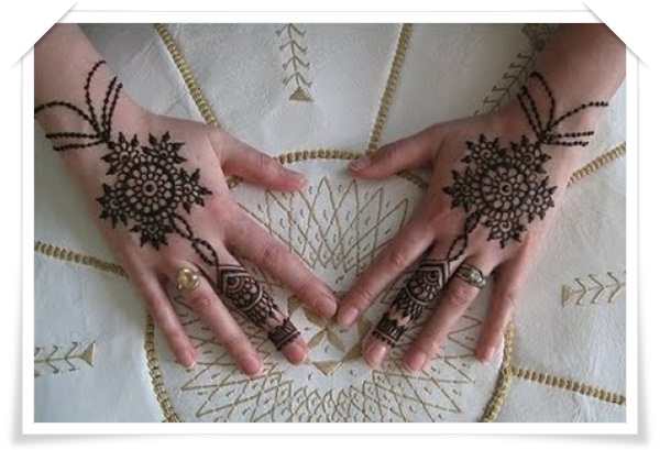 Mehandi Designs for Back side of the Hand