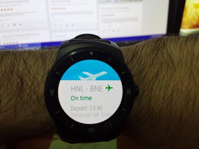 Flight Reminder on LG G Watch R