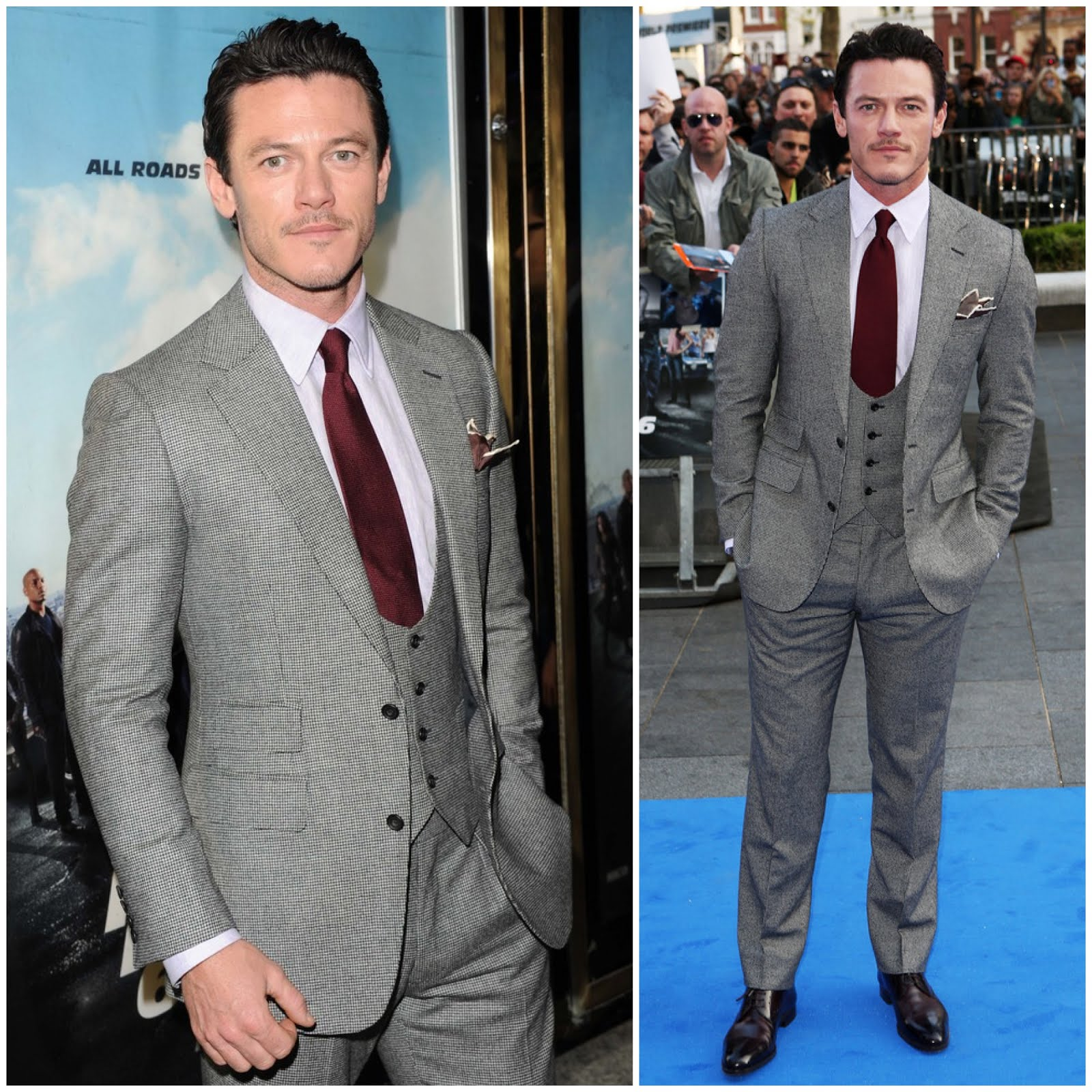 00O00 London Menswear Blog Luke Evans in Thom Sweeney - 'Fast & Furious 6' World Premiere May 2013