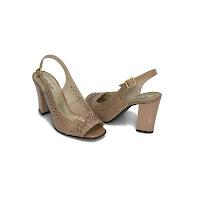Sandale comode dama nude lac Vica din piele naturala (modlet)