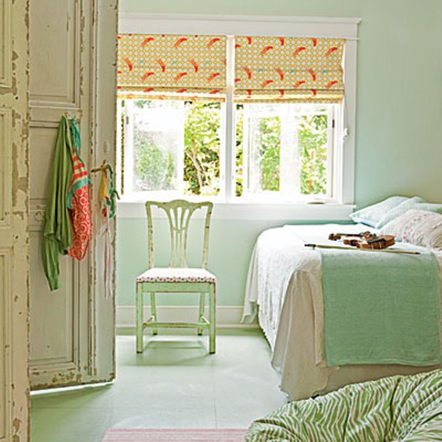 Curtains for green walls
