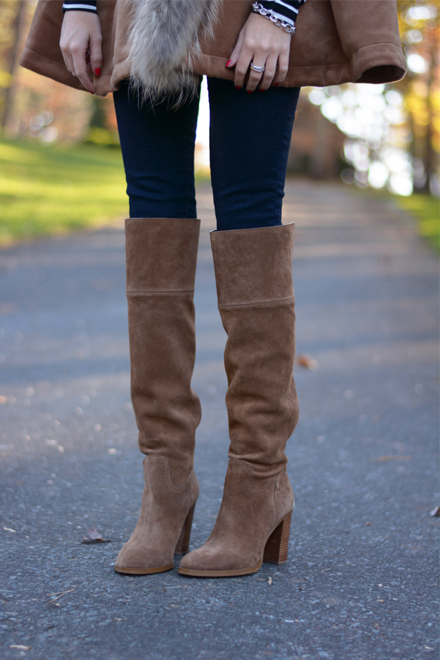 Perfect suede over the knee boots!