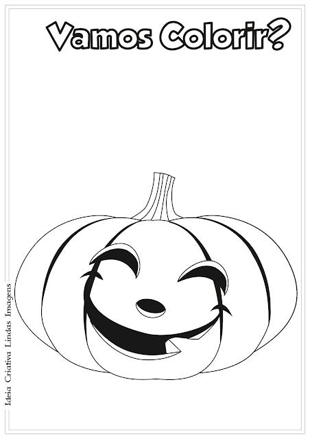 Abóbora de Halloween desenho para colorir