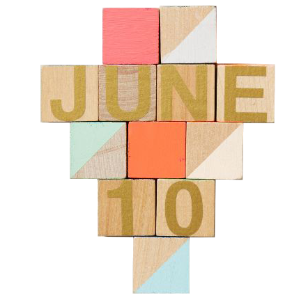 Month & Day Woodblock Calendar from Anthropologie